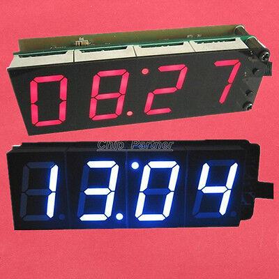 "PCK-4 Red Blue 1"" 4-Bit Clock DIY Module DIY Kit 1-inch Digital Tube two-way"