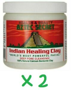 Aztec Secret Indian Healing Clay Deep Pore Cleansing, 1 Pound (Pack of 2) - New
