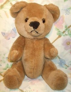 VINTAGE-1983-CAROUSEL-BY-GUY-13-PLUSH-STUFFED-BROWN-TEDDY-BEAR-JOINTED-MINT