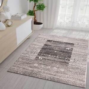 Wohnzimmer Teppich In Klassisches Design Braun Beige Grau Tier