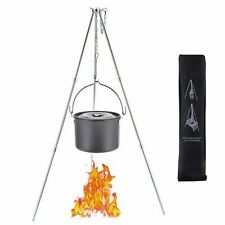 Outdoor Camping Cooking Campfire Tripod Picnic Pot Fire Grill Oven Hanger CB