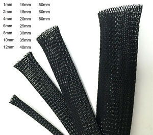 Black-Braided-Cable-Sleeving-Sheathing-Wire-Harnessing-Marine-Size-1MM-50MM