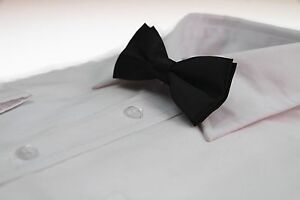 BOYS-BLACK-BOW-TIE-Wedding-Little-Baby-Toddler-Kids-Adjustable-Pretied