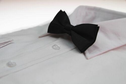 BOYS BLACK BOW TIE Wedding Little Baby Toddler Kids Adjustable Pretied