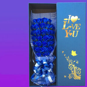 Blue-Rose-Flower-Bouquet-Special-Occasion-Event-Valentine-B-day-etc-33-Rose