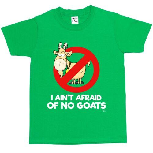 1Tee Kids Boys I Ain/'t Afraid Of No Goats T-Shirt