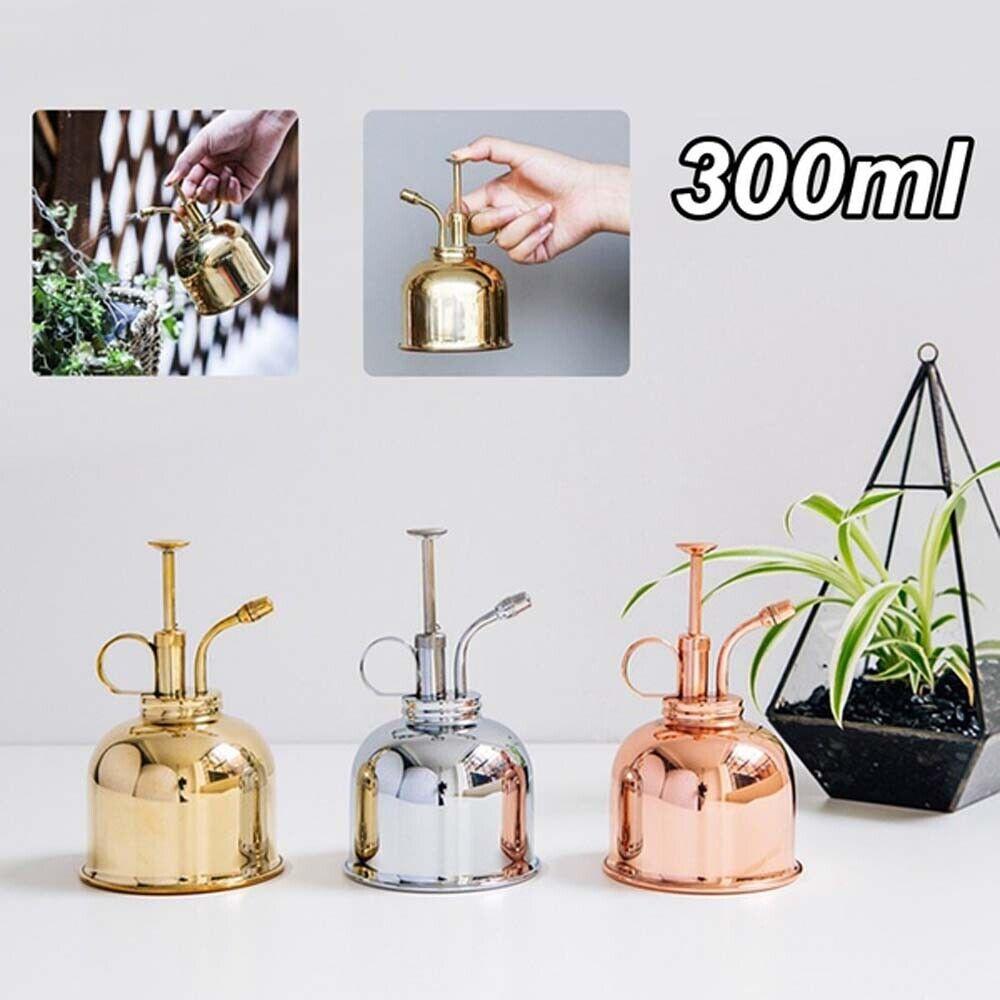 300ml Copper Plant Flower Watering Can Pots Spray Bottle Garden Mister Sprayers