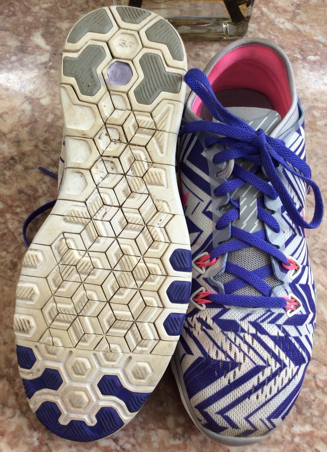 quality design 558a7 ddab7 ... Nike Free 5.0 TR FIT 5 PRT Women s Women s Women s Gray Purple Running  Shoes Size 8