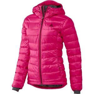 Details zu Adidas Winterjacke Climaheat Jacke Frostlight Steppjacke Anorak  Damen Rot Pink