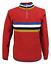 Homme Rouge Rétro à Rayures Tricot Cyclisme Top