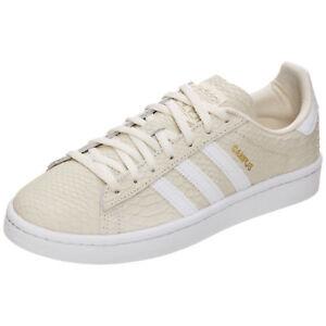abc50ca387b2b6 Das Bild wird geladen adidas-Originals-Campus-Sneaker-Damen-Beige-NEU-Schuhe -