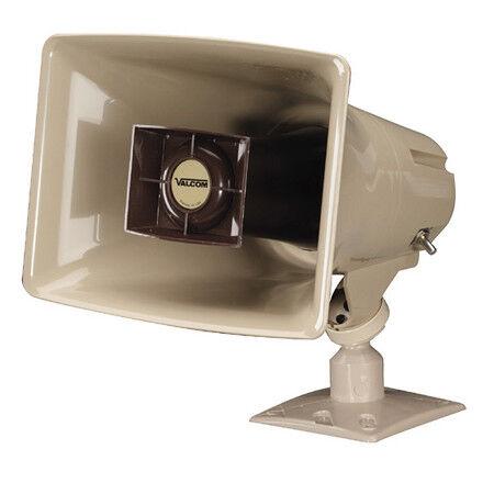 Beige Valcom V-1030C 5-Watt Amplified Horn Megaphone