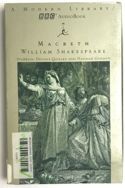 Macbeth by William Shakespeare Audio Book On Tape Modern Library BBC