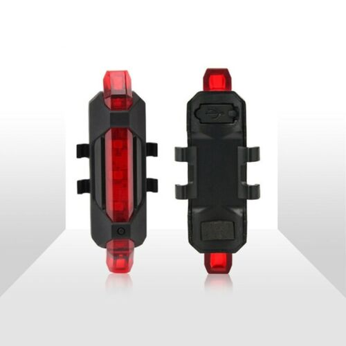 5 LED USB Rechargeable Bike Tail Light Safety Cycling Warning Rear Lamp Bicycle