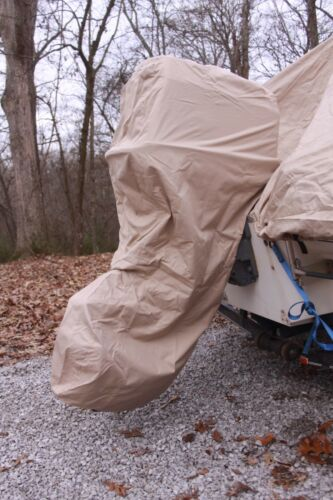 NEW TAN//BEIGE VORTEX COMPLETE OUTBOARD MOTOR COVER /'HOODIE/' 5 HP
