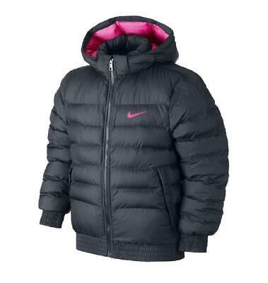 Details about Kids Nike Puffer Jacket Synthetic Fill Coat BlackPink AJ7735 011