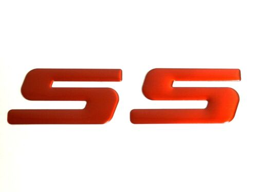1 LARGE RED SS EMBLEM BADGE DECAL FOR CHEVROLET CHEVY COBALT CAVALIER