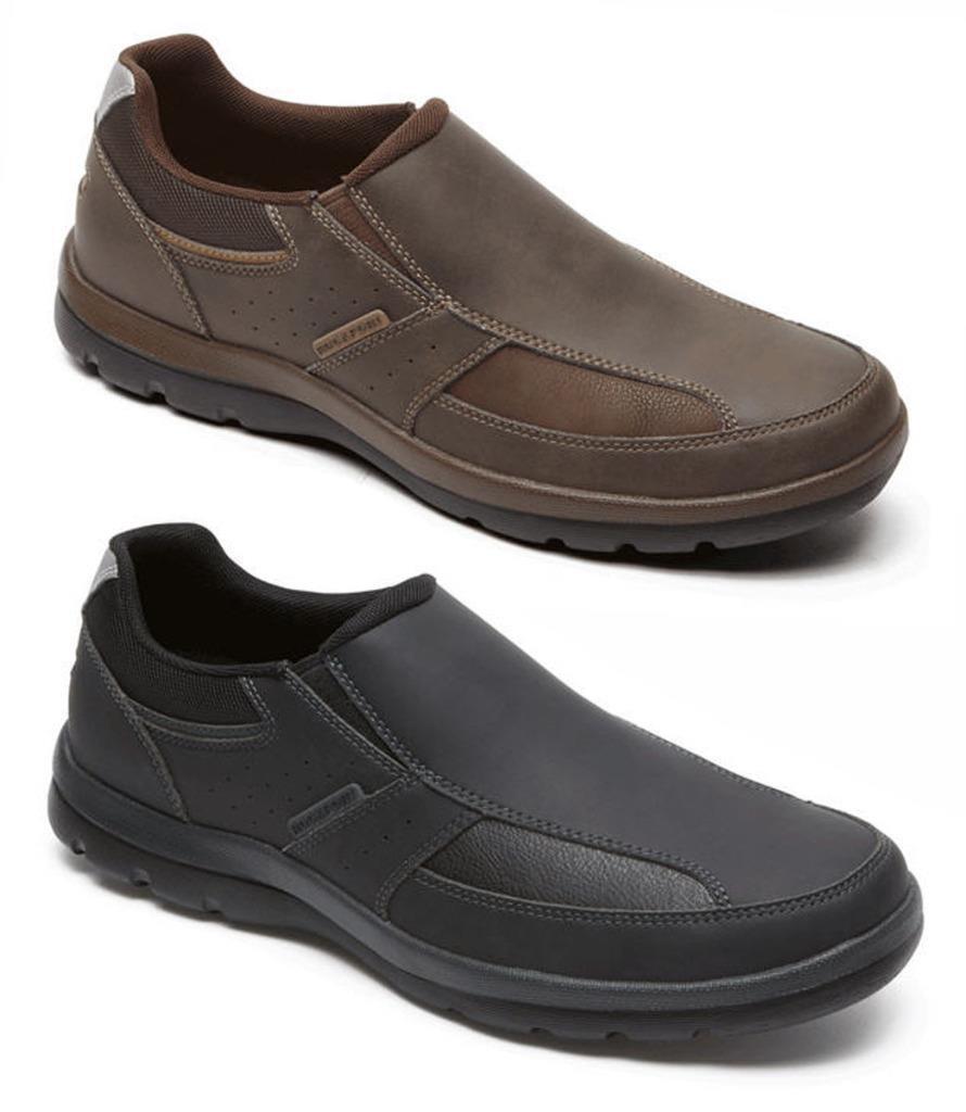 ROCKPORT Men's Stylish Leather Loafers, Black & Brown, Med & Wide EE, Orig.  100