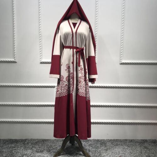 Dubai Abaya Muslim Women Kaftan Long Maxi Cocktail Dress Islamic Jilbab Robe