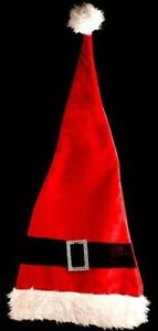 54959 Extra Long Christmas Father Santa Claus Hat Fancy Dress Costume