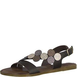 autumn shoes really cheap super popular Details zu Tamaris Isla Sandalen Sandaletten braun mocca metallic Punkte  Leder