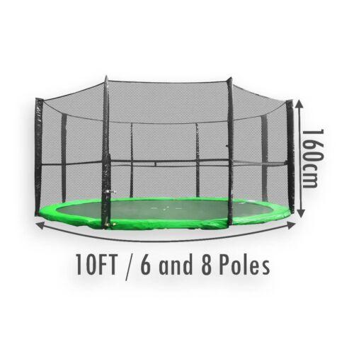 Ersatz Trampolin Sicherheitsnetz Gehäuse Umgeben 10FT 6 und 8 Stöcke