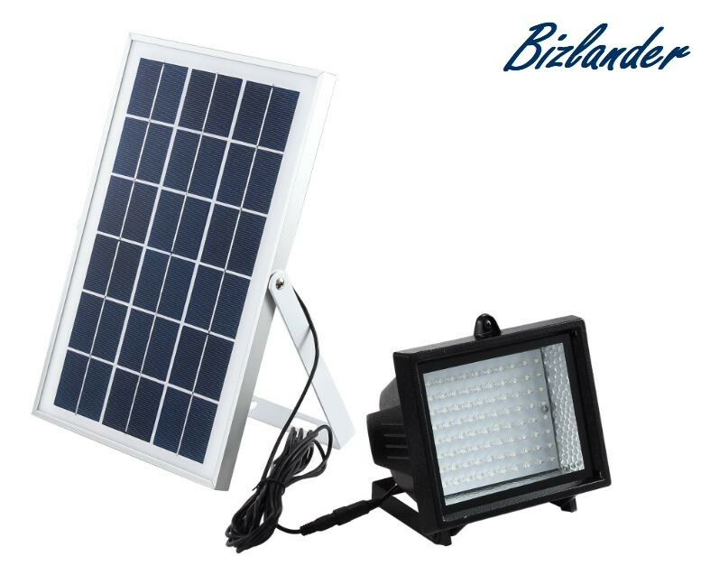 Bizlander Solar Luz de inundación 60 LED Solar Luz De Inundación Trabajo Casa señalización slshjs