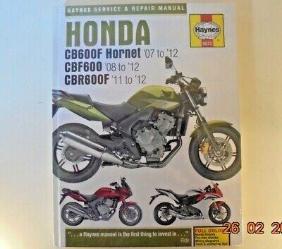 Honda CB600 Hornet CBF600 1998-2006 Haynes Manuell 3915 Neu Auto ...