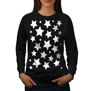 Wellcoda-Star-SHINE-da-donna-Felpa-modello-casual-Pullover-Maglione