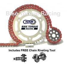 Kawasaki KLX650 C1-8 93  AFAM Red Chain & Sprocket Kit + Rivet Tool