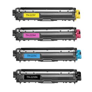 4PK Toner for Brother TN221 TN225 HL-3180CDW MFC-9130CW MFC-9330CDW MFC-9340CDW