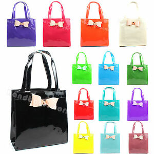 Ladies-Designer-Bow-Tote-Shopper-Bag-New
