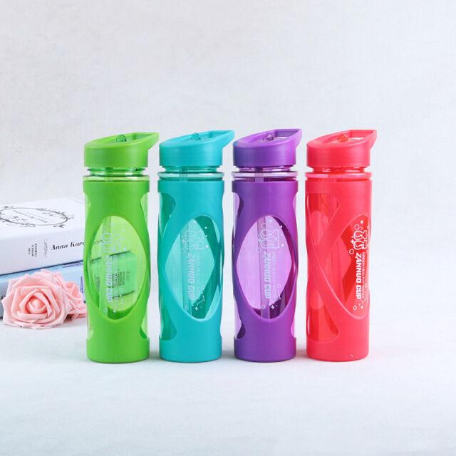 P//D Trinkflasche Flasche Trinkbecher Sportflasche Becher mit Strohhalm Deckel