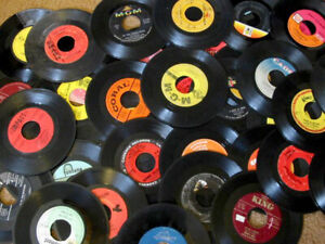 Lot-of-100-UNSLEEVED-45RPM-Records-CLEAN-FREE-SHIPPING