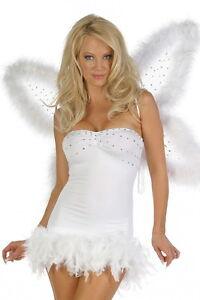 Halloween Schwarzer Engel Kostum Angel Gr S 32 34 Fasching Karneval