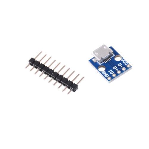 5Pcs Female Micro USB to DIP Adapter Converter 2.54mm PCB Breakout Board LL