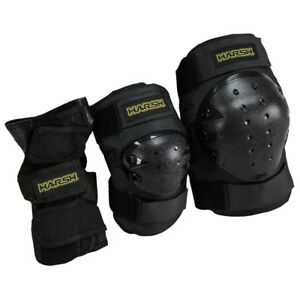 Harsh Adulte De Protection Pack De 3 Pour Scooter, Skate, Et Bmx