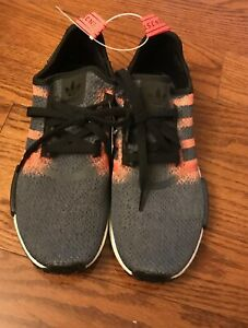 Mens Adidas Nmd R1 Solar Red Black Running Trainers G27917 Sz 8 5