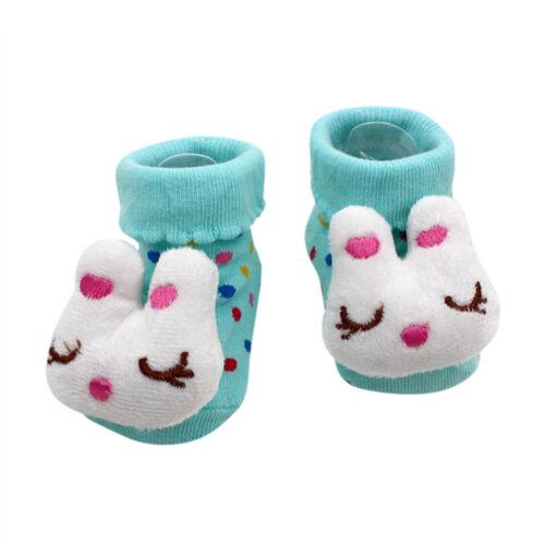 Cute Newborn Unisex Babies Comfortable Cotton Warm Cartoon Socks for 0-12 Months