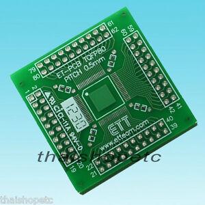 TQFP80-TQFP-80-Adapter-PCB-SMD-Convert-DIP