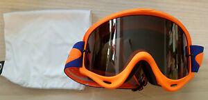 Oakley-O-Frame-MX-Enduro-MTB-Brille-Checked-Blau-Orange-KTM-Graues-Glas