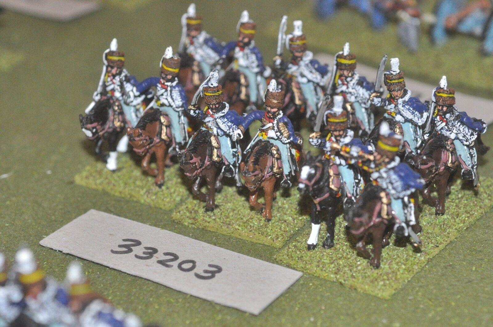 25mm napoleonic   british - hussars 12 figures - cav (33203)