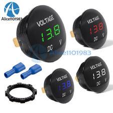 Led Panel Dc 12v 24v Digital Voltage Volt Meter Display Voltmeter Motorcycle Car