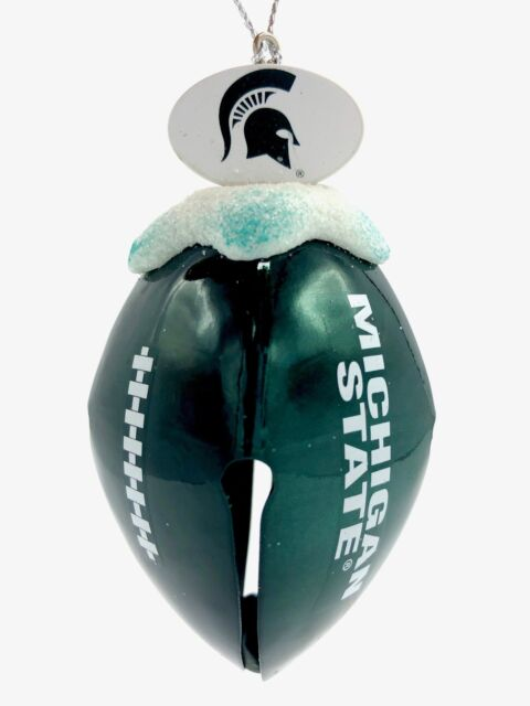 MICHIGAN STATE SPARTANS NCAA Metal Football Bell Christmas ...