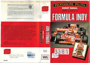 PROFESSIONE-PILOTA-BOBBY-RAHAL-FORMULA-INDY-1986-vhs-ex-noleggio