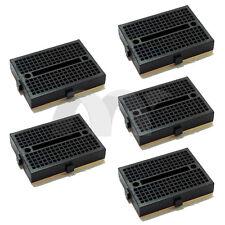 5x Black Mini Solderless Prototype Breadboard 170 Tie-points for Arduino Shield