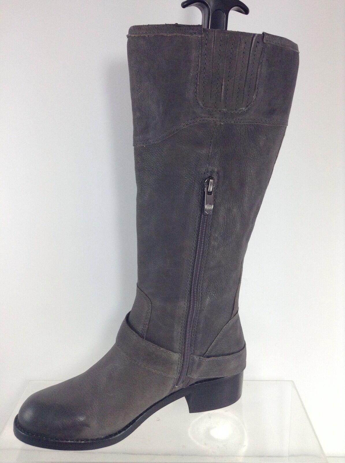 Vince Dark Camuto Damenschuhe Dark Vince Gray Leder Stiefel 6.5 M d719fe