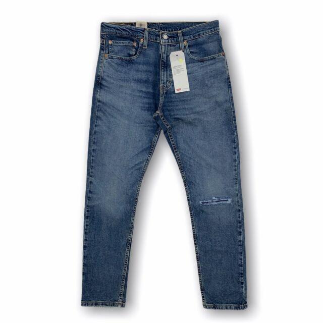 NWT Men/'s Levi/'s 512 Slim Taper Leg Blue Acid Wash Stretch Denim Jeans ALL SIZES