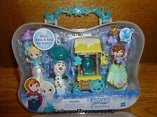 Disney Princess Little Kingdom Frozen Ice Skating Scene Set Snap-Ins Elsa Anna
