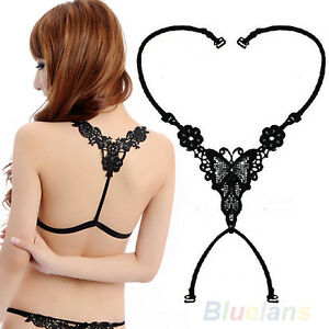 Cool-Women-Sexy-Underwear-Butterfly-Rhinestone-Bra-Shoulder-Cross-Straps-BA8A